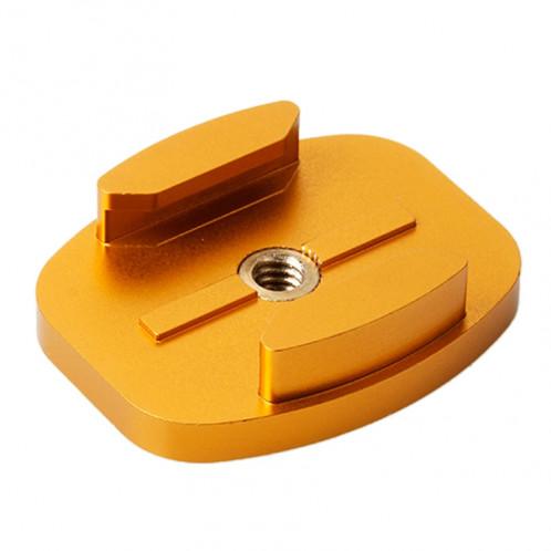 Adaptateur de montage en aluminium plat TMC en aluminium pour GoPro Hero 4 / 3+ / 3/2/1 (Gold) SA41046-35