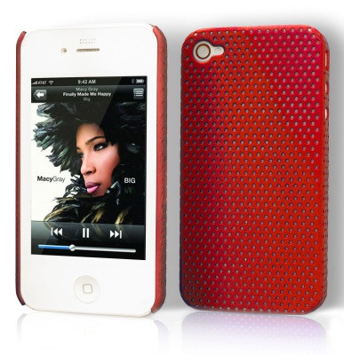 "Etui ""Grid case"" Apple iPhone 4 / 4S Rouge ECG-ROU-31"