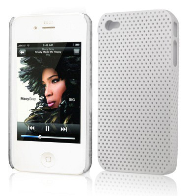 "Etui ""Grid case"" Apple iPhone 4 / 4S Blanc EGC-BLA-31"