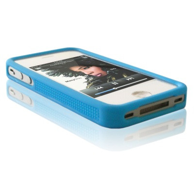 Housse silicone Bumper Apple iPhone 4 / 4S Bleu HB-BLE-31