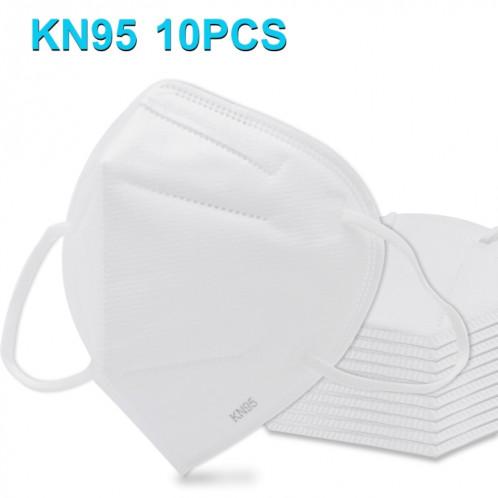 10 PCS CE KN95 n95 Masque Respirateur Protection Antipoussière Antiviral Anti-buée Médecin Infirmière Masque Facial (Blanc) SHU4731888-31
