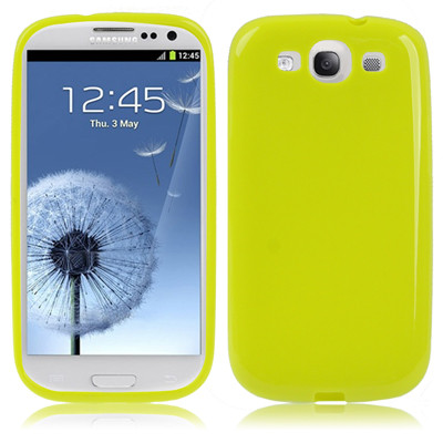 Coque en plastique flexible pour Samsung Galaxy SIII Vert Fluorescent CPFSGS3VF01-31