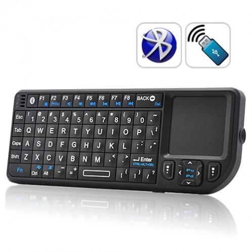 Mini Clavier QWERTY Bluetooth avec Touchpad et pointeur laser MCQBTTPL01-38