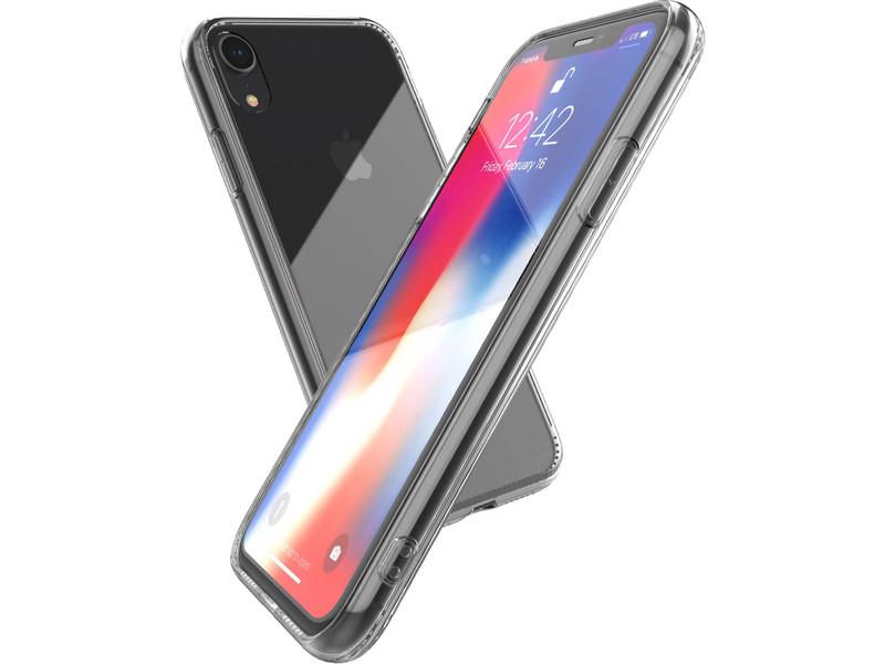 coque iphone xr transparente et verre trempe