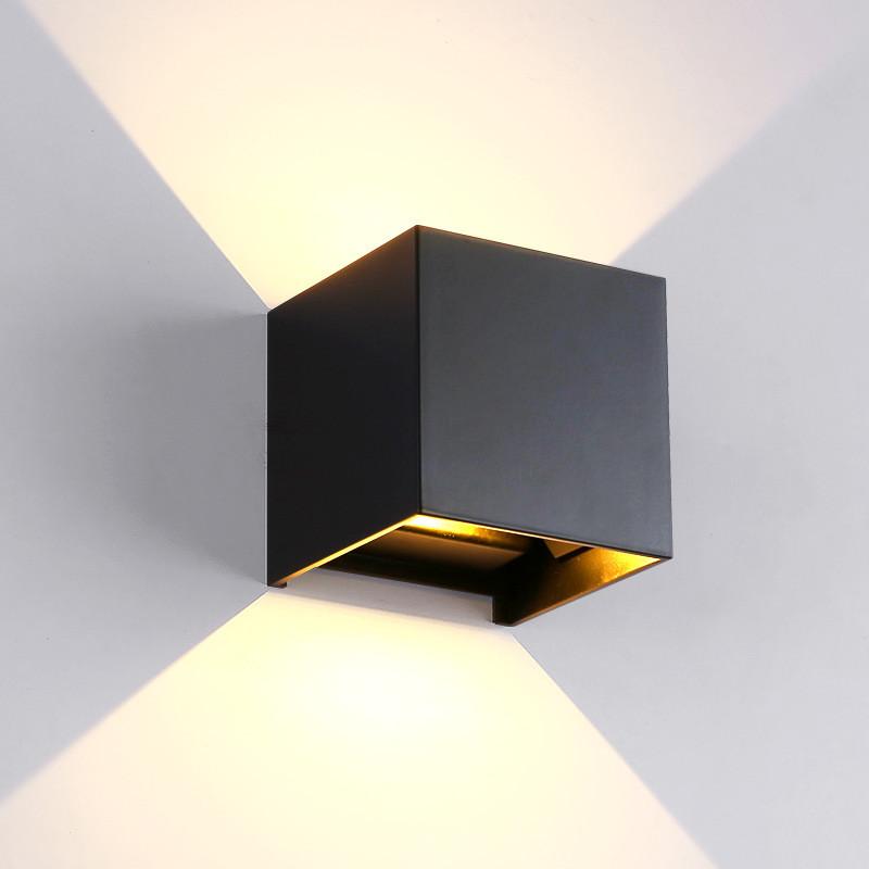 En Et Ajustable ExtérieurÉtanche Intérieur Éclairage Pour Murale Aluminium Led Applique À 7ygbf6