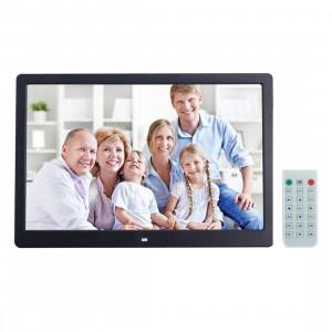 Cadre photo numérique de 15 pouces avec support de télécommande Carte SD / MMC / MS et USB, noir SC121B7-20