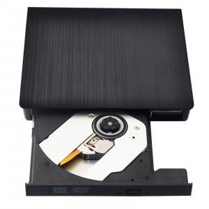 Pilote USB 3.0 Lecteur DVD-RW Lecteur optique externe portable Lecteur de CD-ROM RW pour ordinateur portable Noir CP1597218-20