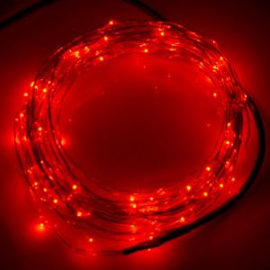10m 12V 6W 500LM SMD-0603 LED Silver Wire String Light Festival Lamp / Décoration Light Strip, Red Light S1120R5-20