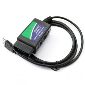USB ELM327 OBDII outil de diagnostic de voiture pour ordinateur portable / PC (noir) SU0011-20