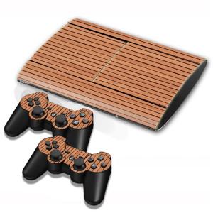 Autocollants pour autocollants en bois pour console de jeux PS3 SA001C-20