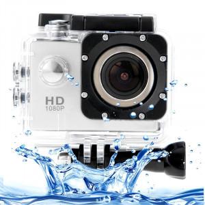 SJ4000 Full HD 1080P caméscope LCD LCD 1,5 pouces avec étui étanche, capteur CMOS 12,0 méga 30m étanche (blanc) SS010W3-20