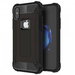 Pour iPhone X Magic Armour TPU + boîtier combiné pour PC (noir) SP440B8-20