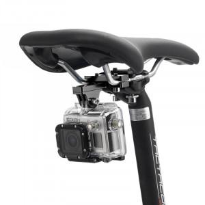 PULUZ Outdoor Photography Support d'aluminium en alliage d'aluminium pour siège de vélo pour appareil photo GoPro & Xiaomi Xiaoyi YI Sport Action (Noir) SP181B4-20
