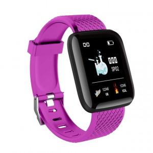 Surveillance de la pression artérielle de la fréquence cardiaque du bracelet intelligent Smart Band FitnessTracker IP67 SmartWatch étanche Pourpre C45261812-20