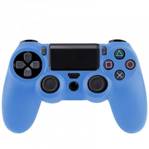 Étui flexible en silicone pour Sony PS4 Game Controller (bleu) S0001BE-20