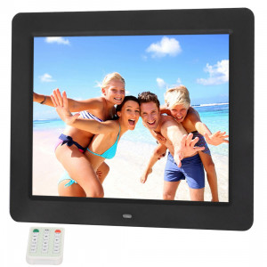 10,4 pouces TFT LCD Matière acrylique multimédia Cadre photo numérique avec lecteur de musique et de film / Fonction de télécommande, Prise en charge de l'entrée USB / Carte SD, Haut-parleur stéréo intégré (noir) S1010B0-20