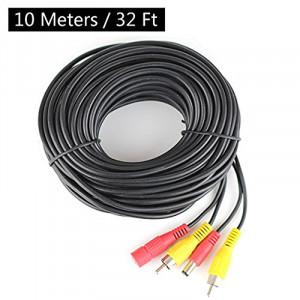 Câble AV audio vidéo générique de puissance de la sécurité RCA 10M pour la caméra de vidéosurveillance, caméra inversée CC7546730-20