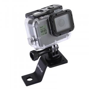 PULUZ Support en aluminium à alliage d'aluminium avec adaptateur et vis à trépied pour GoPro HERO5 Session / 5/4 Session / 4/3 + / 3/2/1, autres appareils photo sportifs (noir) SP114B8-20