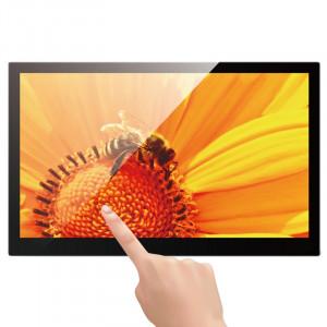 14 pouces IPS écran tactile Android 4.4 cadre photo numérique avec support, Quad Core Cortex A9 1.6G, RAM: 1 Go, ROM: 8 Go, prise en charge Bluetooth, WiFi, carte SD, USB OTG (noir) S1226B1-20
