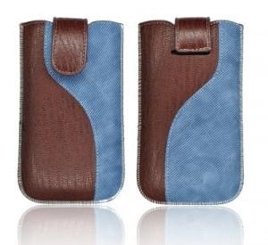 """Etui Forcell Slim en cuir KORA 2 """"S"""" pour HTC Desire HD Bleu 17011-20"""