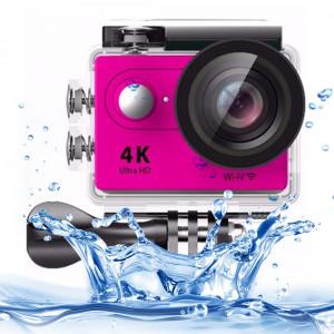 H9 4K Ultra HD1080P Écran LCD à écran tactile de 2 pouces à écran tactile de 2 Go, objectif grand angle 170 degrés, imperméable à 30 m (rose) SH086F9-20