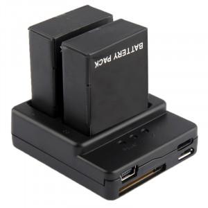 Chargeur de batterie pour GoPro Hero 3+ / 3 (AHDBT-301, AHDBT-302) (Noir) SC00836-20