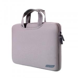 Sac à main portable portatif portable de 13,3 pouces pour MacBook Air / Pro, Lenovo et autres ordinateurs portables, taille: 34x25.5x2.5cm (gris) SS512H-20