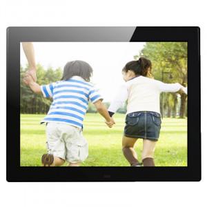 12,1 pouces 800 x 600/4: 3 Cadre de photo numérique à suspension d'écran CCFL avec support et télécommande, support SD / MicroSD / MMC / Micro USB / disque flash USB (noir) S1200B8-20