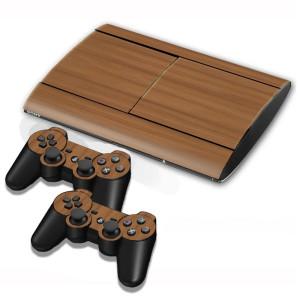 Autocollants pour autocollants en bois pour console de jeux PS3 SA001F-20
