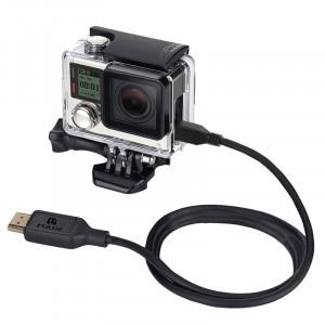 PULUZ Vidéo Câble HDMI HDMI à Micro 5 broches 19 broches pour GoPro HERO4 / 3 + / 3, longueur: 1,5 m SPU1576-20