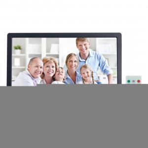 Cadre photo numérique à écran LED 13 pouces avec support et télécommande, Allwinner F16, carte SD / MS / MMC et USB (noir) SC697B5-20