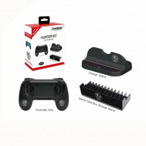 Pour Switch The Hunter Set Petit Gamepad Grip / Chargeur de bureau / Support pour cartouche de jeu hôte noir C0GQEL7155-20