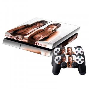 Autocollant de peau autocollante autocollant de peau de protection sexy pour femme pour console de jeux PS4 SA786K-20