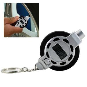 0.5PSI / 0.05Bar Portable Mini 1/4 pouces LCD Digital Tire Pressure Gauge Tester avec porte-clés S02573-20