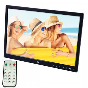 Cadre photo numérique numérique de 15,0 pouces avec support / télécommande, Allwinner, support USB / carte SD entrée / OTG (noir) SC340B3-20