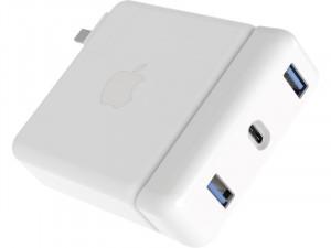 """HyperDrive USB-C Hub MacBook Pro 15"""" Adaptateur pour chargeur Apple USB-C 87 W ADPHDS0023-20"""