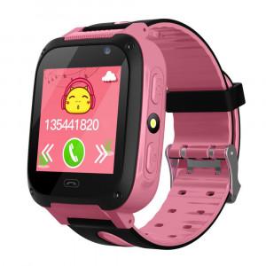 Anti-perdu enfants sûr GPS Tracker SOS appel GSM montre intelligente téléphone pour Android IOS rose C38909PE97351-20
