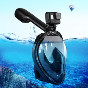 PULUZ 220mm Tube Water Sports Diving Equipment Masque Snorkel complet pour GoPro HERO5 / 4/3 + / 3/2/1, taille L / XL (Noir) SP216B4-20