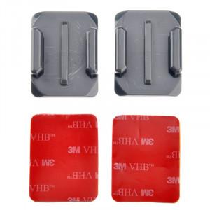 ST-12 2 adaptateurs de surface courbée + 2 adhésifs autocollants pour GoPro HERO4 / 3+ / 3/2/1 (gris) SS045H1-20