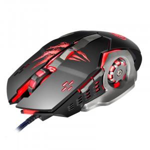 Apedra iMICE A8 High Precision Gaming Mouse LED lumière respiratoire à quatre couleurs USB 6 boutons 3200 DPI Wired Optical Gaming Mouse pour ordinateur PC portable (noir) SA358B9-20