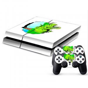 Autocollant de peau de couverture autocollant en peau de protection en forme de dinosaure en 3D pour console de jeux PS4 SA340D-20