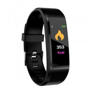 Bracelet de traqueur de forme physique de moniteur de tension artérielle de fréquence cardiaque de montre intelligente de Bluetooth 115plus, noir C2753230-20