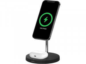 Belkin Boost Charge PRO Station de recharge 2 en 1 avec MagSafe Noir AMPBLK0051-20