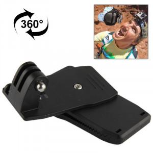 Sac à dos rotatif à 360 degrés Montres Rec-Mount Clip Clamp Mount pour GoPro HERO4 / 3+ / 3/2/1 SS07297-20