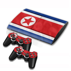 North Flag Pattern Decal Stickers pour PS3 Game Console SN002E-20