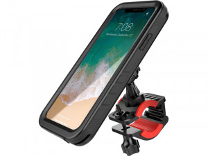 Support vélo pour iPhone X avec coque waterproof AMPGEN0018-20