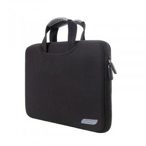 Sac à main portatif portable portable 12 pouces pour MacBook, Lenovo et autres ordinateurs portables, taille: 32x21x2cm (noir) SS511B-20