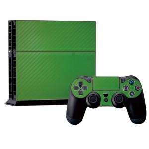 Autocollants en autocollant en fibre de carbone pour console de jeux PS4 (vert) SA022G-20