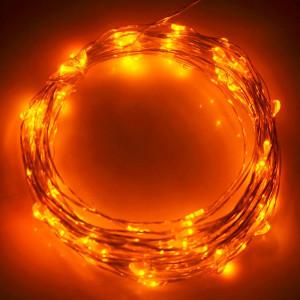 10m 5V USB Alimenté 6W 500LM SMD-0603 LED Chaîne en argent String Light Lamp / Décoration Light Strip, Yellow Light S1000Y7-20