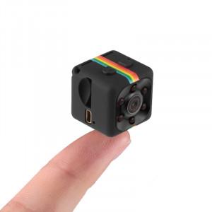 SQ11 Mini DV HD 1080P caméra enregistreur de sport 2MP avec support, détection de moniteur de support et IR Vision nocturne et carte TF (noir) SS627B-20